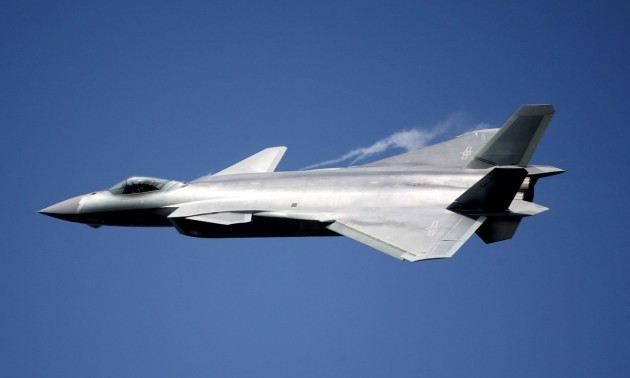 China's stealth fighter unveiled in flyby debut