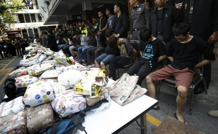 21 malaysians nabbed in massive drug sting in Bangkok face life in prison