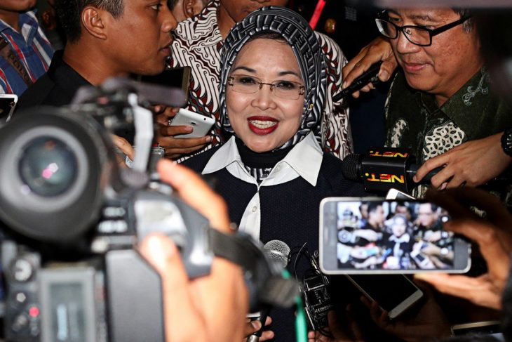 Deputy of Jakarta Mayor -Sylviana denies involvement in alleged mosque construction corruption