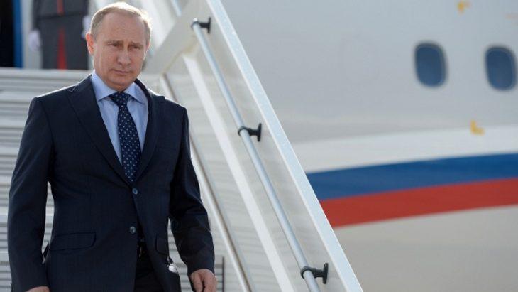 Putin arrives in Dushanbe