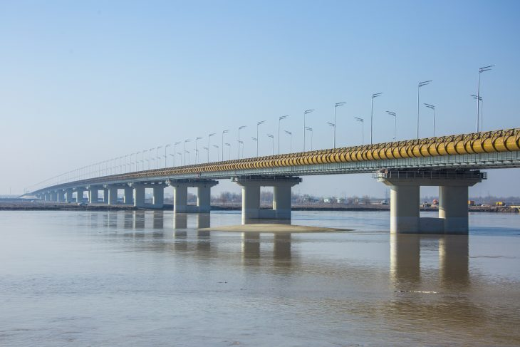 Presidents of Turkmenistan and Uzbekistan open new road bridge Turkmenabat-Farab