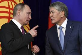 Atambayev and Putin after meeting