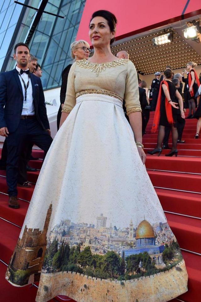 Israeli Minister's Cannes Dress Depicting Jerusalem Called 'Tasteless' and 'Aggressive'