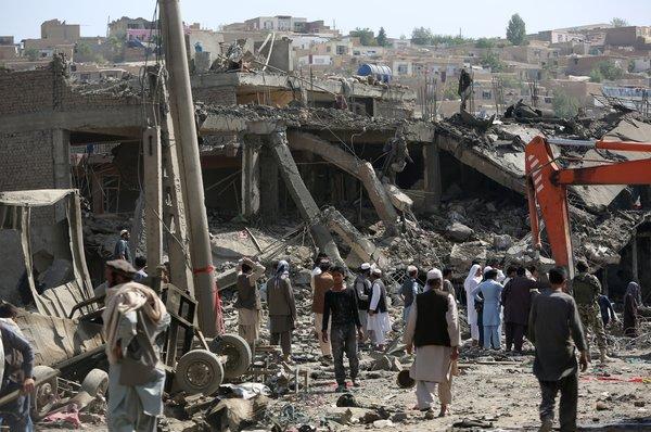 Huge car bomb near embassies in Afghan capital, several killed