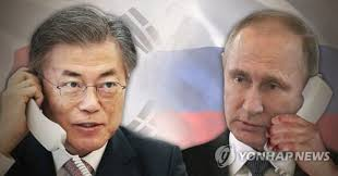 Putin, South Korea's Moon discuss political solution to North Korea crisis