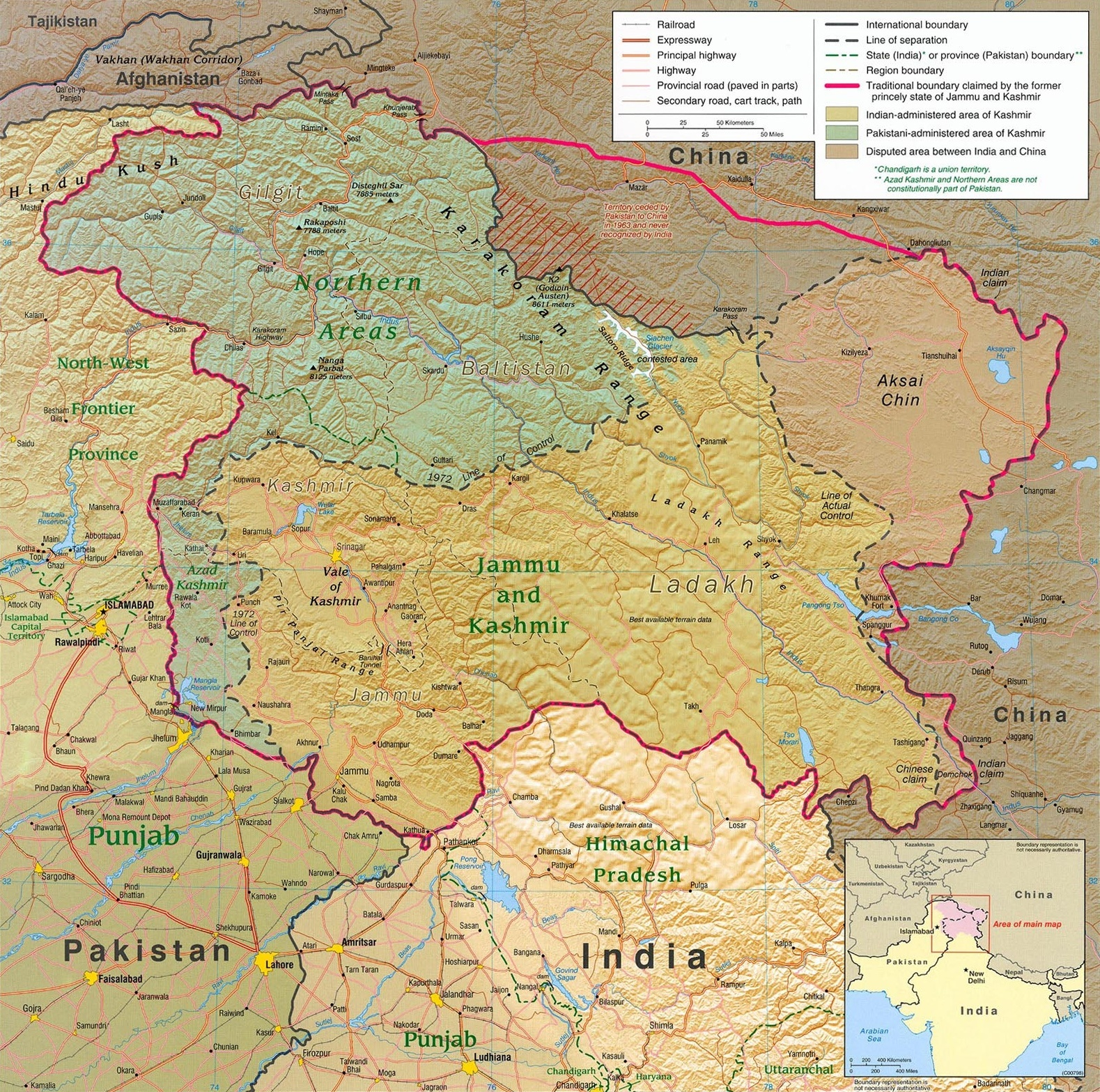 India Map 2017.What Is The Correct Map Of Jammu Kashmir Of India Maps Show Half