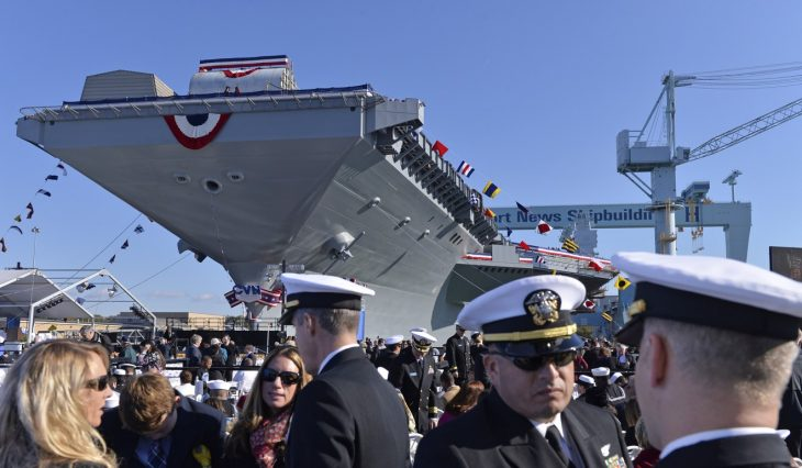 "US Navy takes delivery of new US$12.9 billion aircraft carrier, target of Trump criticism PUBLISHED : Friday, 02 June, 2017, 10:10am UPDATED : Friday, 02 June, 2017, 10:10am COMMENTS:     Associated Press Associated Press 6SHARE  PrintEmail The first of a new class of aircraft carriers has been officially delivered to the US Navy after more than a year of delays, cost overruns and technological glitches that drew criticism from President Donald Trump. SCMP TODAY: INTL EDITION Get updates direct to your inbox E-mail * Enter your email  subscribe By registering you agree to our T&Cs & Privacy Policy The Navy said Thursday that the USS Gerald R. Ford will now go through various workups at sea before becoming operational in 2020. The Navy plans to build at least two more Ford-Class carriers, according to the Congressional Research Service. The Navy says the technologically superior Ford can carry more planes and operate with several hundred fewer sailors. A new electromagnetic system for launching aircraft will help to increase flying missions by a third. But the delivery of the new carrier by Newport News Shipbuilding in Virginia follows Trump's complaints about the ship's new catapult launch system, which uses previously untested technology. The president told Time magazine last month that the Navy should go back to using steam catapults because the new system ""costs hundreds of millions of dollars more money and it's no good."" China launches first home-built aircraft carrier  Navy Lieutenant Kara Yingling, a spokeswoman at the Pentagon, said on Thursday that the Navy has no comment regarding Trump's statements. President Donald Trump speaks to Navy and shipyard personnel aboard the aircraft carrier Gerald R. Ford at Newport News Shipbuilding in Newport News, Virginia, on March 2. Photo: Washington Post / Jabin Botsford Acting Navy Secretary Sean Stackley told the US Naval Institute News last month that ""we have not briefed the president on the Ford program. He did go down to Newport News and visited the ship, was onboard the ship. And so I wasn't present for that visit, I don't know what his source of information was."" The catapult initially failed during a demonstration in 2015, according to media reports. Testing also showed that the catapult put too much stress on planes carrying the extra weight of external fuel tanks, according to a Department of Defence report. The Navy's press release announcing the ship's delivery stated that ""any deficiencies identified during trials will be addressed"" when the Ford is in port. Navy spokesman William Couch said he couldn't comment on the status of the ship's operating systems. Guests attend the christening ceremony of USS Gerald R. Ford in November 2013. Photo: Xinhua ""Right now we're in that period where the ship is no longer under construction,"" he said. ""This is where the ship begins on the path to becoming an operational unit."" Much of the delays and cost overruns have been attributed to the Ford's incorporation of several new systems at once. They include the new catapult system as well as new technology for landing planes, which has also had problems. Construction of the Ford was supposed to finish by September 2015. The US$12.9 billion ship was initially supposed to cost US$10.5 billion. Christie Miller, a spokeswoman for shipyard-owner Huntington Ingalls Industries, said it's already building the second Ford-class carrier, the John F. Kennedy. The shipyard has also received an advanced planning contract for a third carrier, the USS Enterprise."