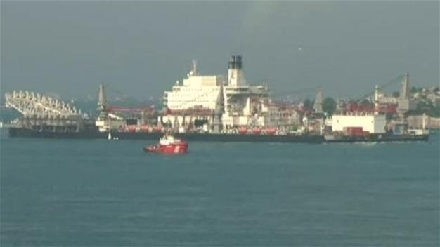 Construction vessel of Turkish Stream transits Bosphorus strait