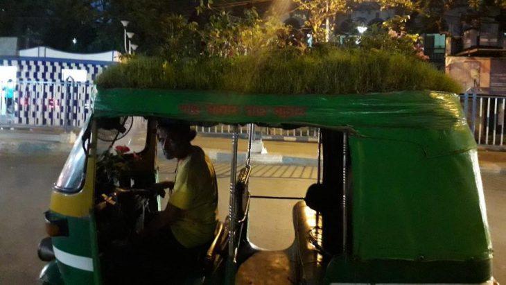 Auto driver in Kolkata plants garden on vehicle, impresses Internet