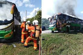 Chinese tourists escape fiery death in Melaka bus fire