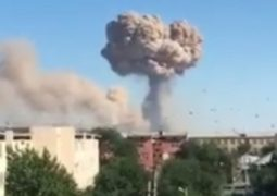 Explosions in Turkestan town military warehouse in Kazakhstan: 45 people hurt