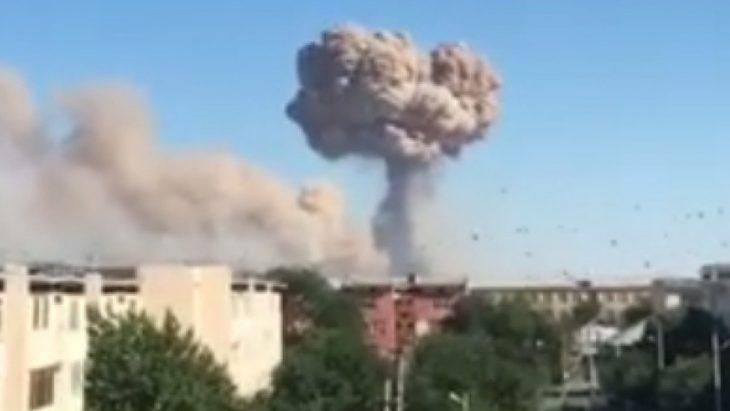 Explosions in Turkestan town military warehouse in Kazakhstan: 45 people hurt