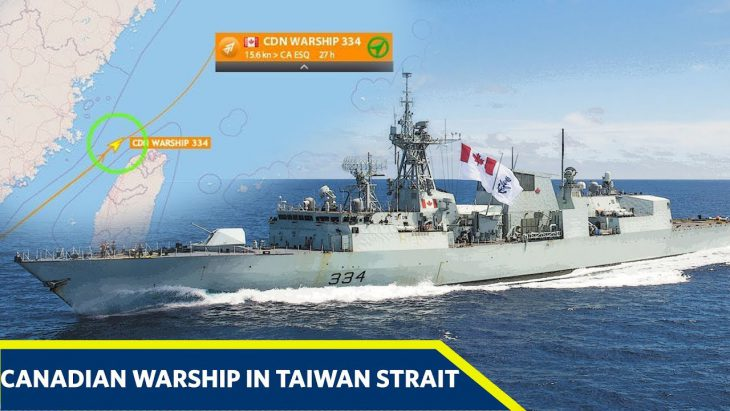 Canadian navy ships sailed through Taiwan strait amid tension with China