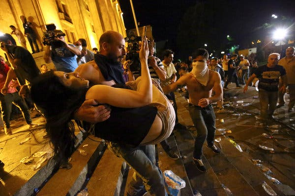 Saakashvili syndrome pulps again to the streets of Tbilisi: Georgia and Russia trade blame over unrest as crisis brews