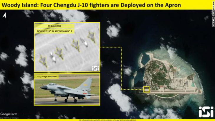 Chinese fighter jets deployed to contested island in South China Sea