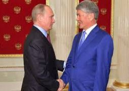 President Putin met ex-President Almazbek Atambayev in the Kremlin, amid internal troubles in Kyrgyzstan