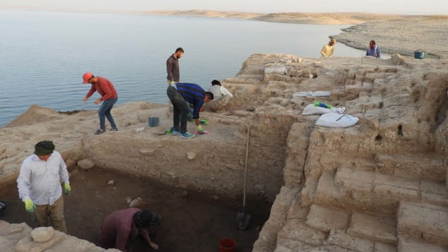 An unknown Babylon fortress – to see now, witnesses say: Ancient palace emerges from drought-hit Iraq reservoir