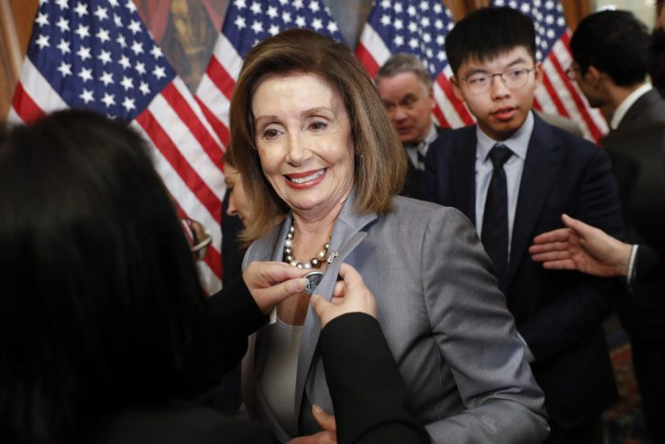 US House speaker Nancy Pelosi backs congressional legislation on Hong Kong