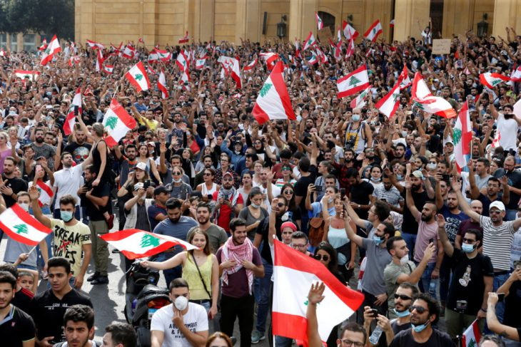 Yet another Middle East country it trouble: this time Lebanon with millions marching across all the country