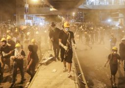 Hong Kong plunged into commuter chaos as protesters block roads