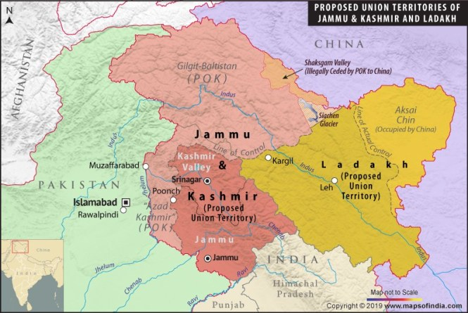 Crown of the British Empire will be divided again: India moves to divide occupied Jammu and Kashmir state amid protests, attacks