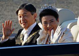 Japan emperor greets public in parade marking enthronement