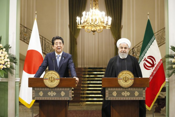 Japan PM asks Iran's Rouhani to stick to nuclear deal