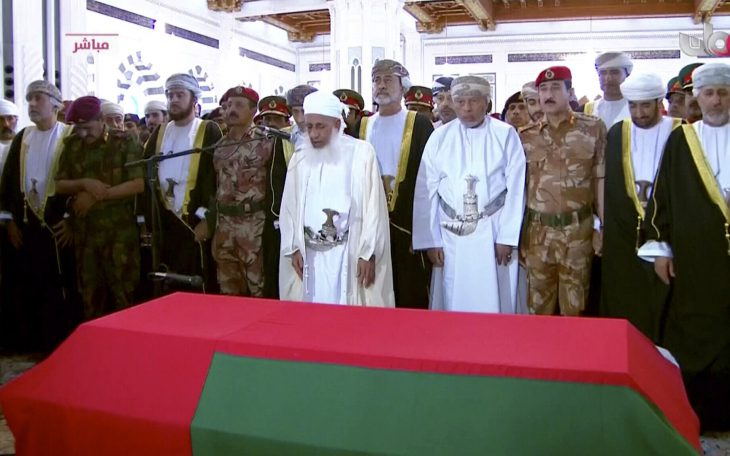 Oman's Sultan Qaboos dies. His cousin Haitham bin Tariq Al Said sworn as the country's new ruler