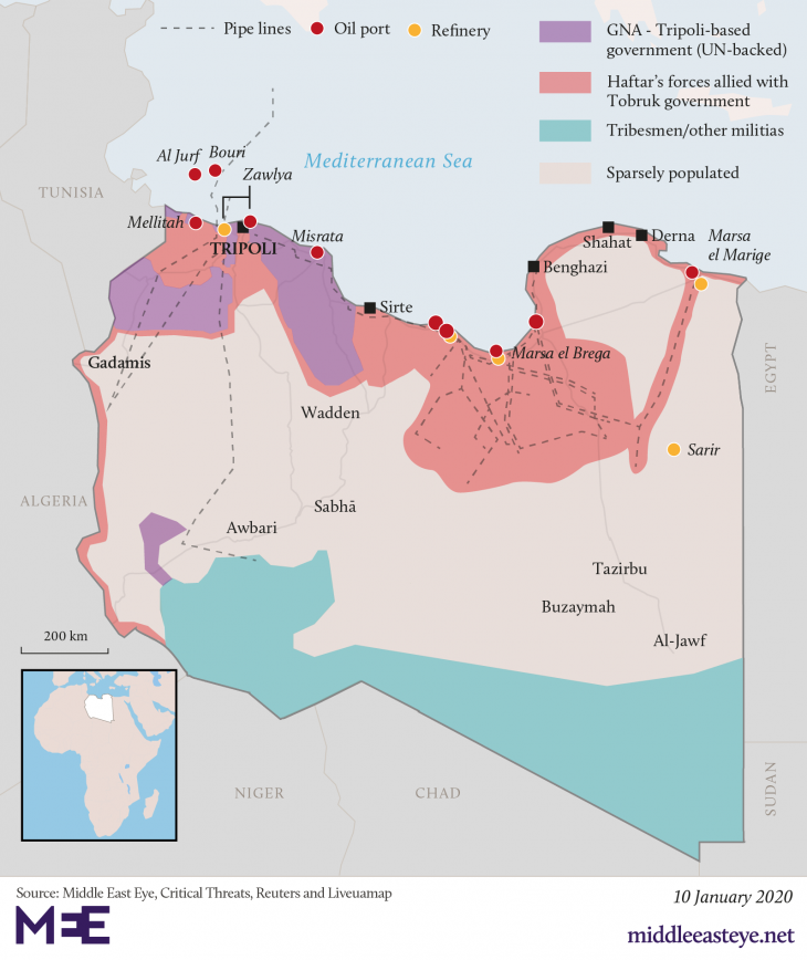 Proxy war rages on in Libya: Ankara and Doha against Riyadh, Cairo, Abu Dhabi and Moscow. Who backs Khalifa Haftar and opposes Turkey in Libya?