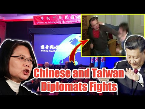 Taiwanese and Chinese diplomats fight in a show of kung-fu master class in Fiji