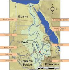 Map of Eastern Nile region, with reservoir locations. | Download Scientific  Diagram